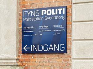 Skilt til Fyns Politi