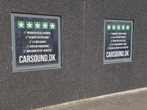 Skilt til Carsound.dk